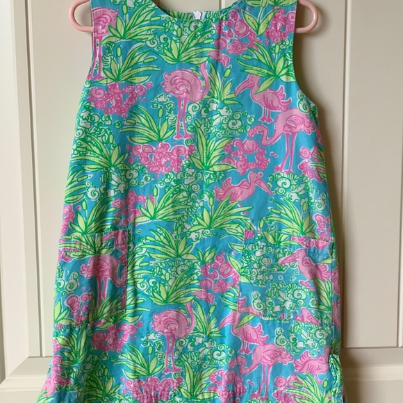 Lilly Pulitzer Other - Lilly Pulitzer Girls Shift Dress flamingo 4